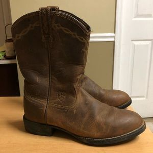 Ariat Western Boots Brown Leather sz 6